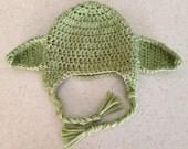 Crochet Yoda Inspired Hat