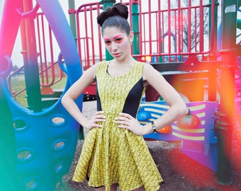 Limited Edition New York Couture Playground Collection MEASURING TAPE Dress