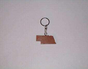 Nebraska State Keychain