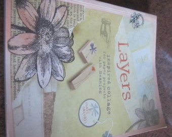 "Softcover like new book ""Layers: Inspired Collage"" by Shari Carroll"