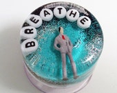 MADE TO ORDER: Weird Bathroom Decor - Breathe, Art to Hang in Your Shower, Word of the Year, Inspiraitional Reminder