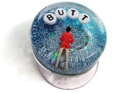 MADE TO ORDER - Art for Your Shower: Butt, Bathroom Decor, Jokes About Butts, Potty Humor