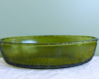 Grassy Green FTD Oval Bowl-Flowers-Fruit-Vintage