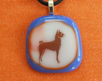 Basenji Glass Necklace