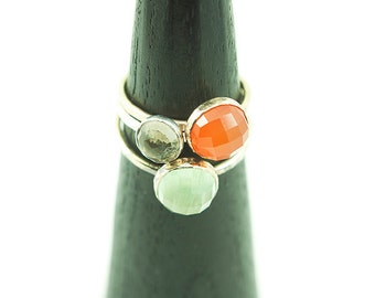 Constellation Stacking Rings with Recycled 14k Gold Fill and Semiprecious Stones - Stone Stacking Rings - Create your own Stack of Rings