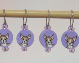 Chihuahua Dog Stitch Markers--Set of Six