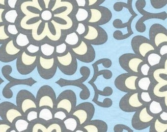 WallFlower in Sky by Amy Butler Fabric / Lotus Collection / 1 Yd Cotton Quilt Apparel Fabric
