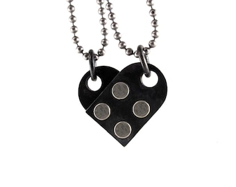 Interlocking Heart Pendant Set - Building Block Collection
