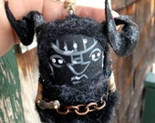 One  Krampus Santas sidekick handmade ornament