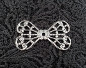 Silver Plated Filigree Bow Angel Wings Butterfly Stamped Finding