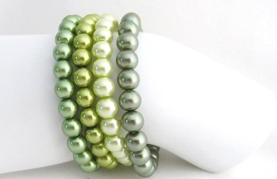 Green Bracelet Olive Green Stretchable Bracelet Pistachio Green Bracelet Free Shipping In USA