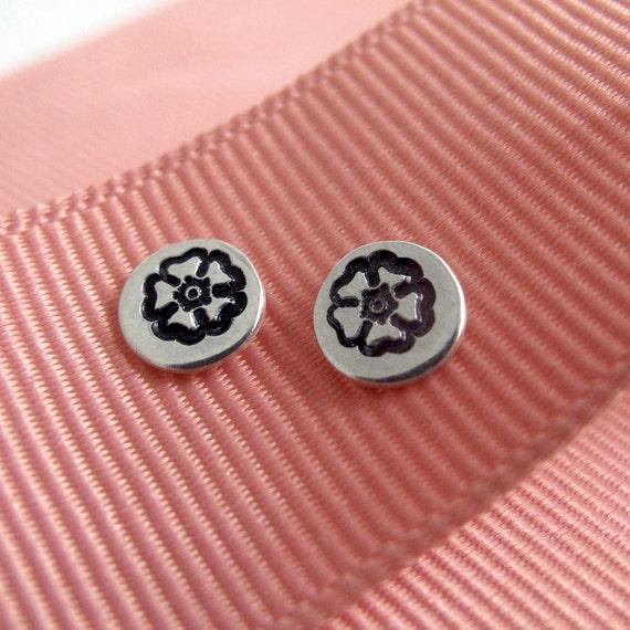 Flower Studs - Sterling silver Post Earrings