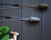 Pinea Necklace - Pine cone necklace long nature woodland