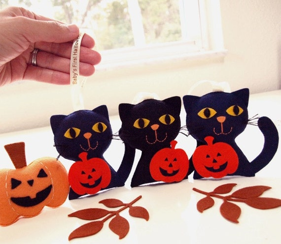 Baby Gifts For Halloween : Personalized halloween cat unique gifts by