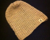 Chunky Tan Slouchy Hat -- FREE SHIPPING