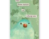 3 OZ Magnet - Humor - Bird - Gift - Stocking Stuffer - Mincing Mockingbird