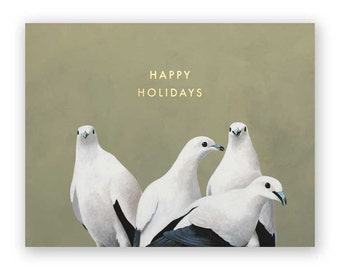 Doves Holiday Card - Christmas - Bird - Greeting - Gift - Nature