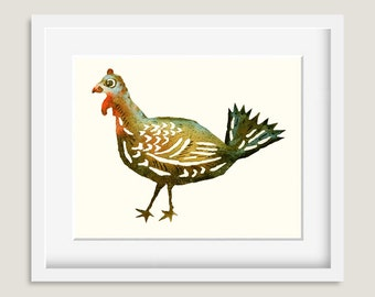 Watercolor Painting - Turkey Painting - Watercolor Turkey - 8 by 10 print - Archival Print, Home Decor, Nature Art
