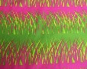 Sassaman Free Spirit Westminster Hothouse Garden Grasses Hot Pink Green 2007