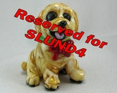 RESERVED for SLUND4 Only * Golden Retriever Or Yellow Labrador Puppy Dog Sculpture Glass Art DITS Lampwork by Annette Nilan