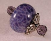 Purple lampwork iphone charm smartphone dangle