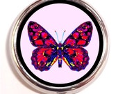 Butterfly Psychedelic Pill Box Case Festival Hippie Music Rave Insect Neon Pop Art