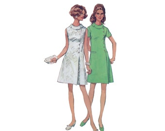 60s XL A-line Dress Pattern Fit and Flare vintage 42-34-44 madmen XXL plus size