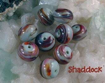 Round Lampwork Handmade Glass Bead Set