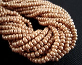 50 PERCENT OFF, Terra Tan Czech Glass Seed Beads, 6/0, Light Brown, Pearlescent Brown, Malt Brown Seed Beads SB070