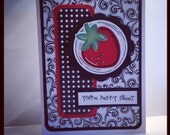 Strawberry Thank You Handmade Greeting Card