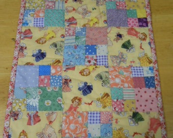 4 patch doll quilt