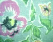 Vintage PEONY Linen Fabric