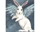 Bunny Angel - Small Fine art print