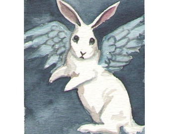 Bunny Angel - Small Fine art print