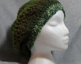 Rainforest Crocheted Slouchy Hat