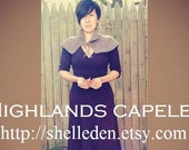 PDF Knitting Pattern for Highlands Capelet Instant Download