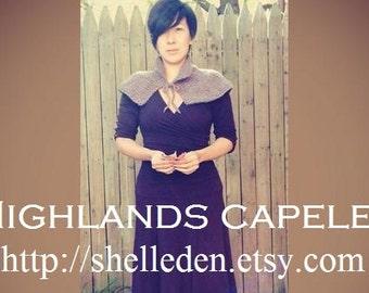 PDF Knitting Pattern for Highlands Capelet Instant Download