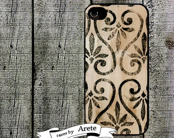 Vintage Scroll Phone Case for  iPhone 4 4s 5 5s 5c SE 6 6s 7  6 6s 7 Plus Galaxy s4 s5 s6 s7 Edge