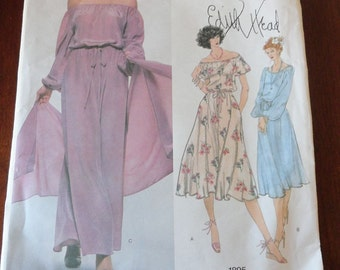 Vintage Vogue 1895 Edith Head Dress and Stole Pattern size 16 UNCUT