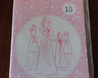 Vintage 70s Patterns Pacifica 3025 Feminine Dress Pattern sz 16