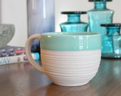 SHOP SALE Groove Mug in Mint Green