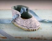 "Reggie's felt dolly shoe pattern PDF -Fits Waldorf doll foot 2.5"" to 3"" long"