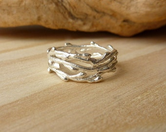 Triple Branch Ring - Sterling Silver