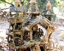 The Fairy Castle, Amazing Fairy House created from natural materials, exhibited at the American Visionary Art Museum 2012 to 2013