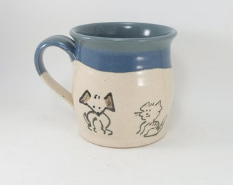 dog cat mouse mug