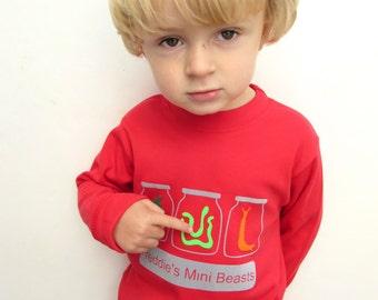Personalised Mini Beast T shirt - Beetle T shirt, Boys T shirt, Girls T shirt, Unisex Kids