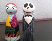 Jack and Sally from Nightmare Before Christmas- Halloween PegBuddies Jack Skellington Sally