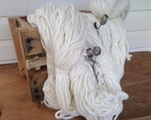 pure wool natural unplyed super soft chunky yarn similar to 20ply