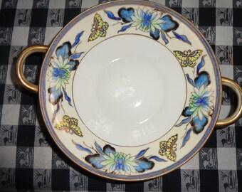Lovely Vintage Noritake Bowl with Butterflies and Lotus Design Collectible Bowls Noritake Dish Collectible Noritake ButterflyCollector