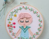 Embroidered Art Hoop - Cotton Candy